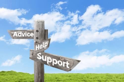 アドバイス・ヘルプ・サポートがあります